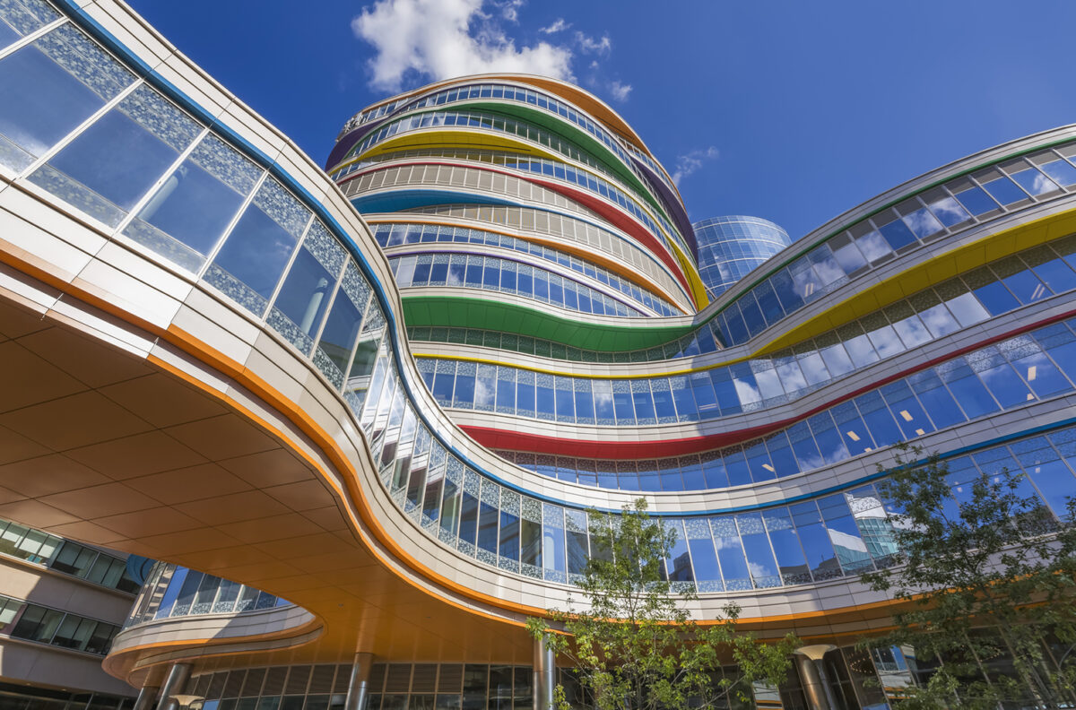 Buerger Center for Advanced Pediatric Care, Children's Hospital of Philadelphia, Location: Philadelphia, Pennsylvania, Architect: Pelli Clarke Pelli